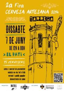Cartell Fira Cervesa Artesana Tàrrega 2014
